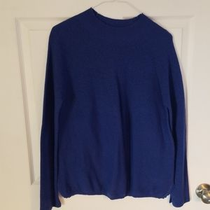 Electric blue wool blend sweater